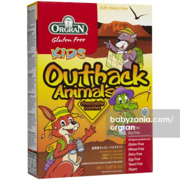 Orgran Outback Animals Chocolate Cookies 175 gram