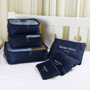 Tas Travel Bag in Bag Organizer 6 in 1 - Navy Blue