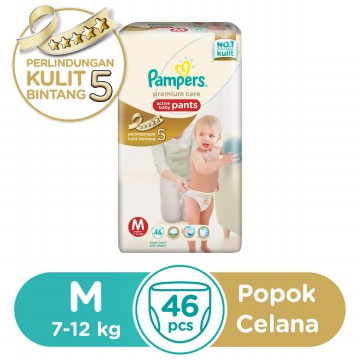 Pampers Premium Care Popok Celana - M-46/ L-42 / XL-36 / XXL-28