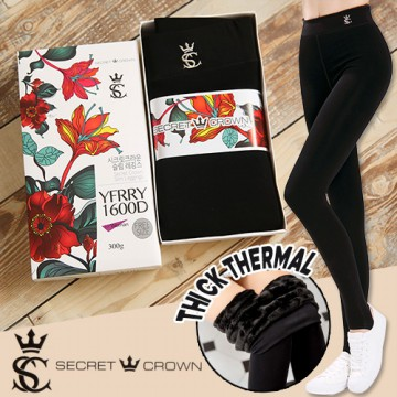 Secret Crown Thick Stretchy Termal Leggings/Legging Winter/Legging bulu/Legging Thermal