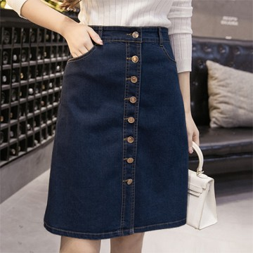 (#6155)Sunmi Denim Skirt/Rok Jeans/Rok Midi/Rok Denim