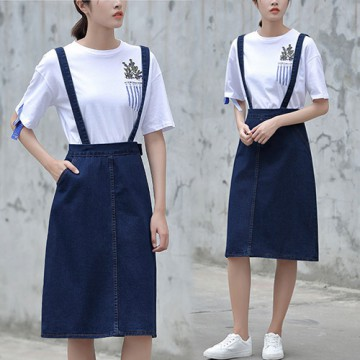 (#6040)Stella Denim skirt/Rok jeans/Rok denim/Rok Midi