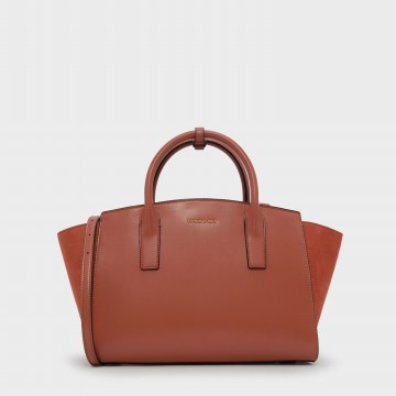 Charles & Keith Oversized Trapeze Bag - Clay (2332 Clay)