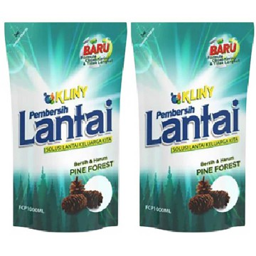 Total KFCP1000 Kliny Pine Forest Pembersih Lantai 1000 mL isi 2 Pouch