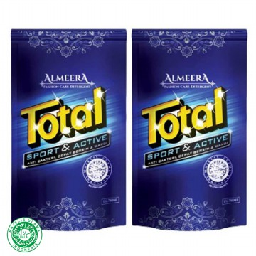 Total Deterjen Almeera Liquid TSL750 Sport And Active Pembersih Pakaian 750 ml isi 2 Pouch
