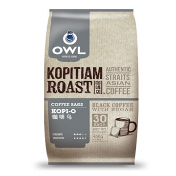 Owl Kopi-O Kopitiam Roast 30sachet Coffee Mixture Bags Black Coffee with Sugar