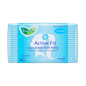 Laurier Pantyliner Active Fit Non Parfum 40's