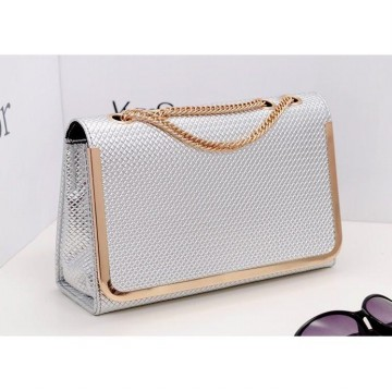 KGS Tas Pesta/Formal Wanita Clutch Silver