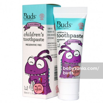 Buds Children's Toothpaste 50ml (1 - 3 Year) - Blackcurrant