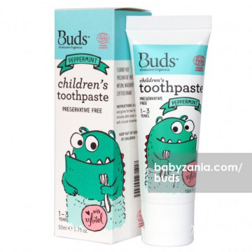 Buds Children's Toothpaste 50ml (1 - 3 Year) - Peppermint
