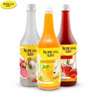 Sirup Rendah kalori Tropicana Slim 750 Ml - Sugar Free Syrup - Minuman - Drinks