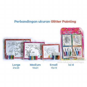 Glitter Painting MEDIUM. Art Games Mainan Edukasi Anak
