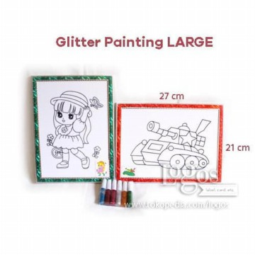 Mainan Glitter Painting Large. Art Games Edukasi Anak