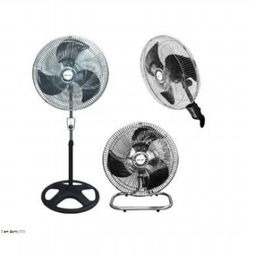 [Sekai] IST-1851 Industrial Fan / Kipas Angin 3in1 18' (45 cm) - Silver