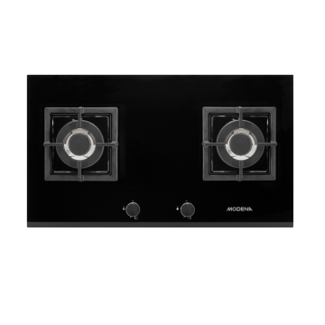 MODENA BH 4724 MASSIMO - Kompor Tanam Built-In Hob Gas 70 cm, 2 Burners - Kaca Hitam