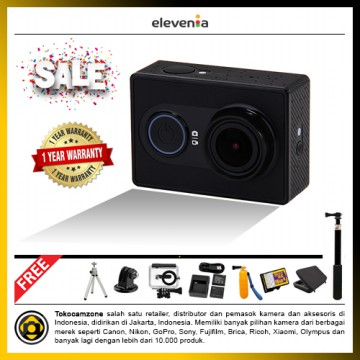 Xiaomi Yi Action Camera - International Edition Harga Gila Package - Black