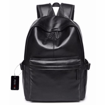 AbleMe Tas Ransel Korean Style PU Leather Backpack - Black