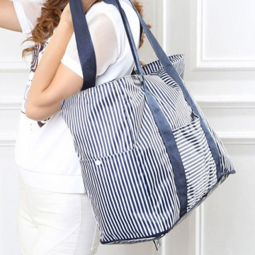 Tas Travel Lipat Portabel Waterproof Size M - Blue