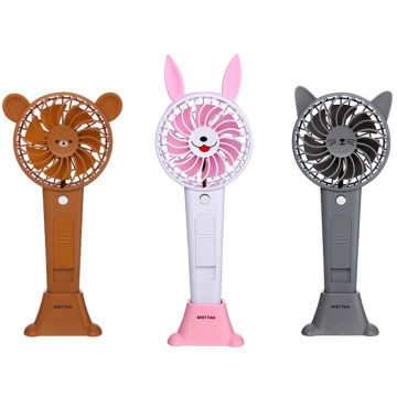 Animal Shape USB Heldhand Portable Mist Fan Portable Air Cooler - 12ml