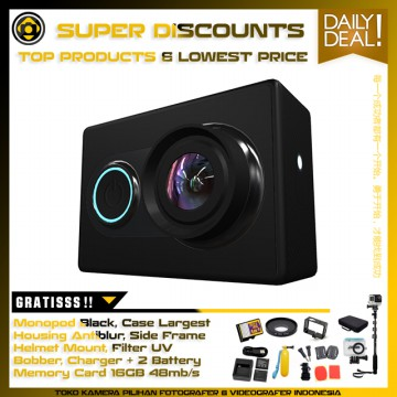 Xiaomi Yi Action Camera - International Edition Kamehameha Package - Black