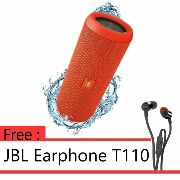 ANNIVERSARY SALE - BUY 1 GET 1 JBL FLIP 3 - Orange + JBL T110 Black
