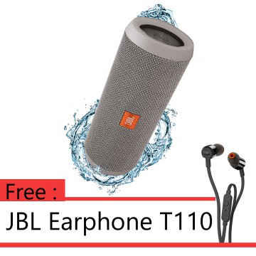 ANNIVERSARY SALE - BUY 1 GET 1 JBL FLIP 3 - Grey + JBL T110 Black