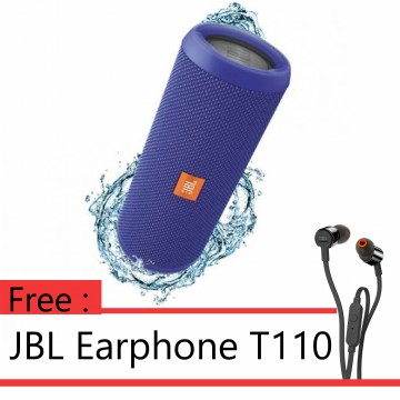 ANNIVERSARY SALE - BUY 1 GET 1 JBL FLIP 3 - Blue + JBL T110 Black