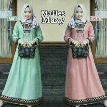 TENABANG OFFICIAL | MAHES MAXY | PLG00278R | DRESS MUSLIMAH TERBARU