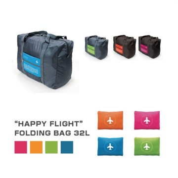 Hot Promo HAPPY FLIGHT FOLDING BAG /FOLDABLE TRAVEL BAG /HAND CARRY TAS LIPAT