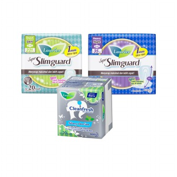 Paket Laurier (Pantyliner, SlimGuardNight & Day)