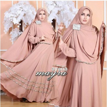TENABANG OFFICIAL | Maxi dress Ayana Syari'I Brown | NF(R)00112 | DRESS WANITA MUSLIMAH TERBARU