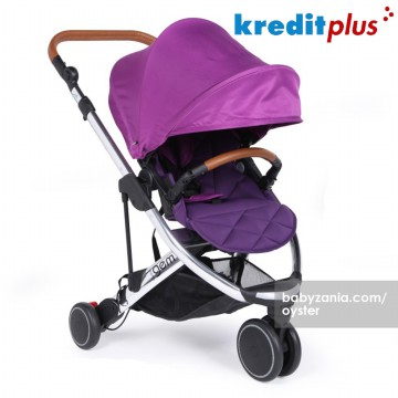 OYSTER Gem Stroller Mirror FREE Seat Liner dan Cup Holder - Purple
