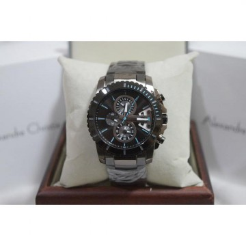 Alexandre Christie AC 6455 Full Black List Blue Original Men