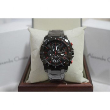 Alexandre Christie AC 6455 Full Black List Red Original Men