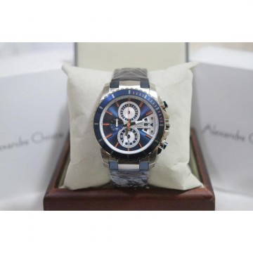 Alexandre Christie AC 6455 Silver Blue Ring Blue Original Men