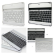 iPad 2/3/4 Wireless Bluetooth Keypad 3.0 Interface Black/Silver