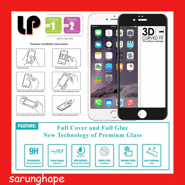 harga IPhone 6 Plus - 6S Plus - LP Full Glue 3D Tempered Glass Antigores elevenia.co.id