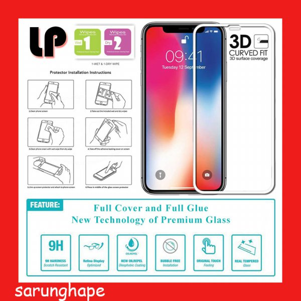 harga IPhone XS Max 6.5 - White - LP Full Glue 3D Tempered Glass Antigores elevenia.co.id