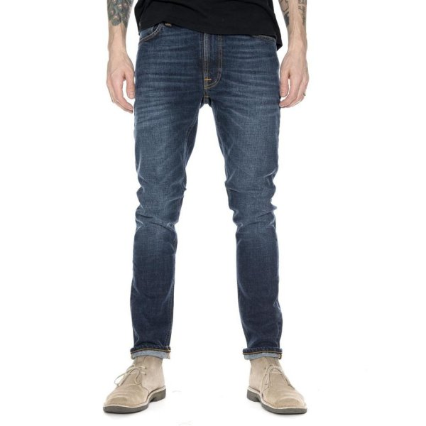 harga Nudie Jeans Lean Dean Worn Dark Navy elevenia.co.id