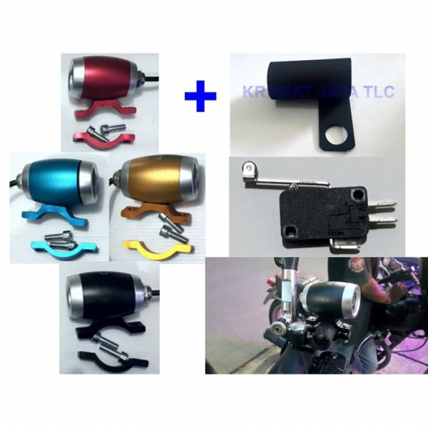 harga LAMPU SOROT TEMBAK LED CREE U3 MINI DRUM + SAKLAR MICRO SWITCH elevenia.co.id