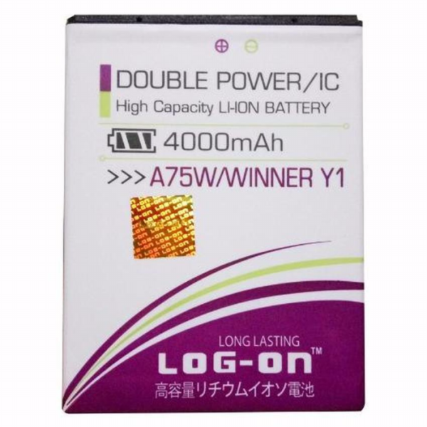 harga BATERAI EVERCOSS A75W WINNER Y1 DOUBLE POWER MERK LOG ON ORIGINAL elevenia.co.id