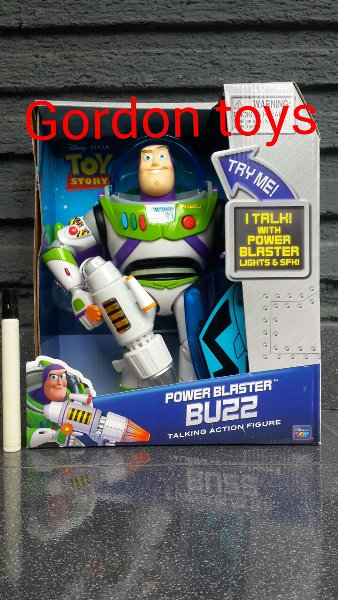 harga Mainan toy story buzz lightyear disney pixar talkingpower blaster ORIGINAL THINKWAY TOYS misb elevenia.co.id