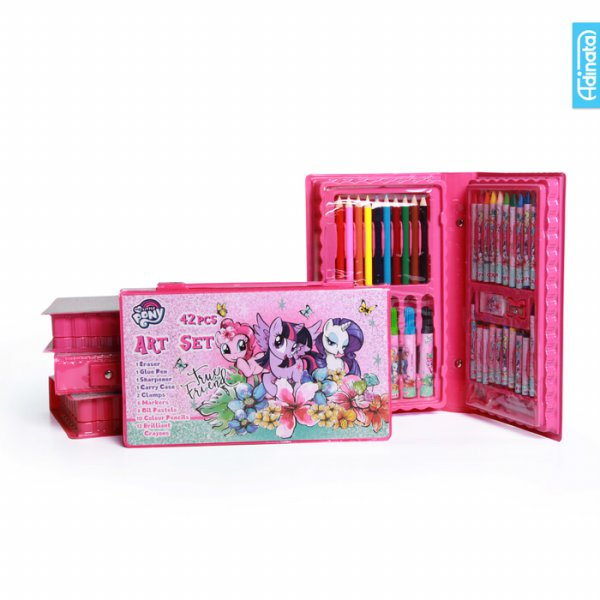 harga My Little Pony Art Set 42 pcs Adinata/ Alat Mewarnai / Crayon elevenia.co.id
