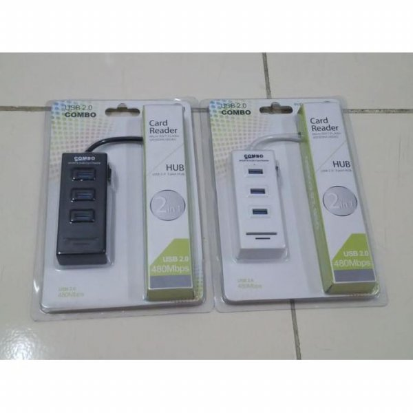 harga SKYWALKER CRCB-913 Card Reader Combo SD/TF + 3 Port + Switch elevenia.co.id