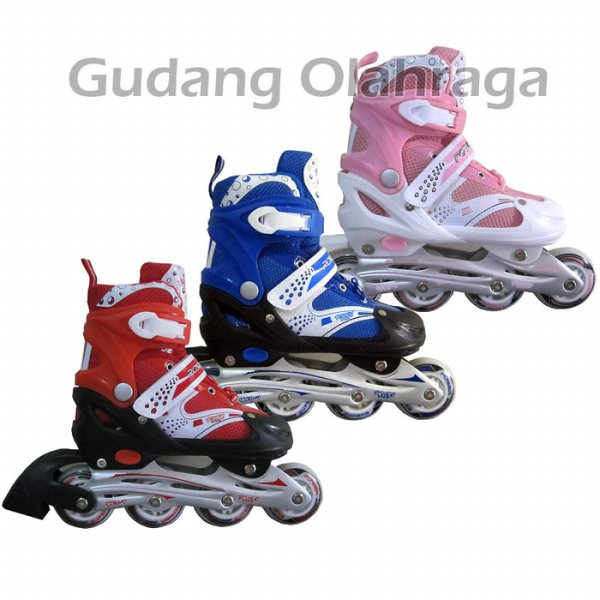 harga Sepatu Roda Inline Skate POWER SUPERB Red GL44 elevenia.co.id