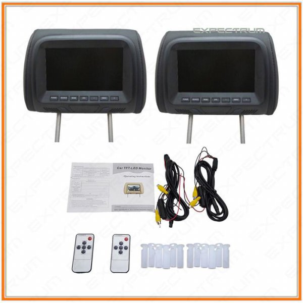 harga Headrest Monitor / TV Headrest Bantal / TV Sandaran Kepala 7 inchi LED elevenia.co.id
