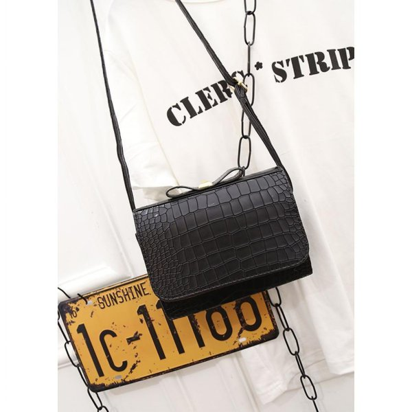 harga Tas pita korea motif buaya / Korean bow crocodile shoulder bag  BTA025 elevenia.co.id