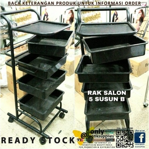 harga RAK SALON TROLLEY SALON 5 SUSUN LOKAL elevenia.co.id