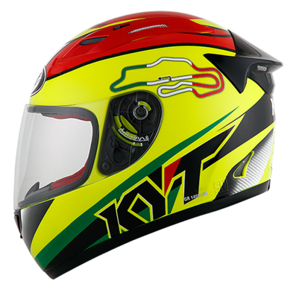 harga Helm KYT RC 7 RC Seven RC7 FullFace Full Black Yellow Red Fluo elevenia.co.id