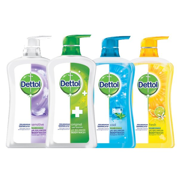 harga Dettol Body Wash Cair 625ml - All Varian Original/Cool/Fresh/Sensitive elevenia.co.id